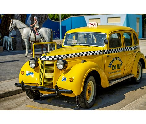 Decorative Taxi in Waterpark Faliraki Rhodes