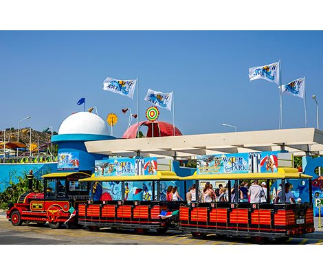 Free train in Waterpark Faliraki Rhodes