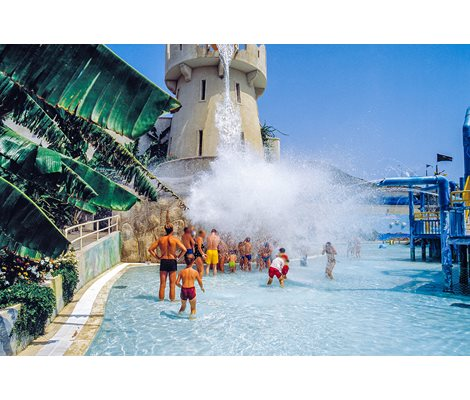 Tipping Bucket in Waterpark Faliraki Rhodes