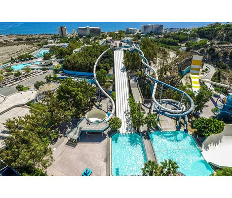 Head Fisrt Mat Racer & Twister slides Waterpark Faliraki Rhodes