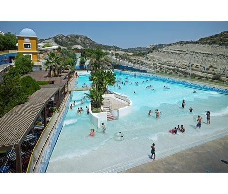 Wave Pool in Waterpark Faliraki Rhodes