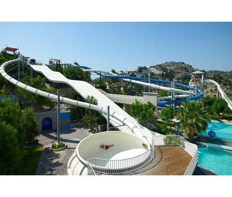 Space Bowl Waterpark Faliraki Rhodes